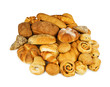Mixed fresh bread background