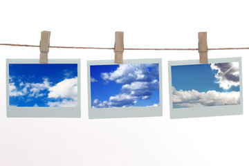 Polaroid templates with clouds