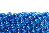 blue christmas bead close up