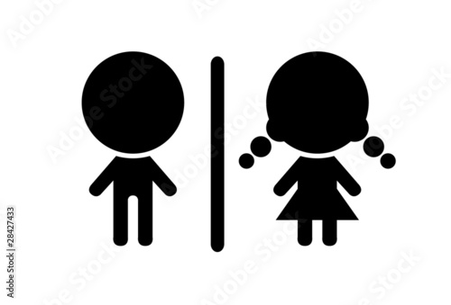 Toilet symbol, vector illustration