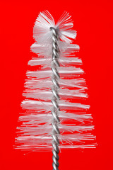 Fake chistmas tree, taken from baby bottle brush
