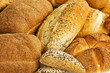 Mixed bread background