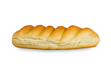 Isolated Bread loaf on white background