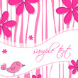 Vector elegant abstract floral background