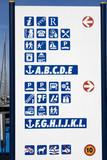 Several Information  Pictograms of the Izola Harbor, Slovenia poster