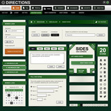 Web Design Element Green