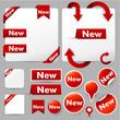web design elements & labels