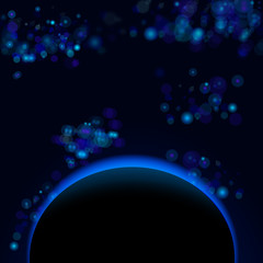 Vector beautiful abstract planet
