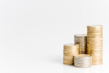 Geld Münzen Turm Euro Stapel