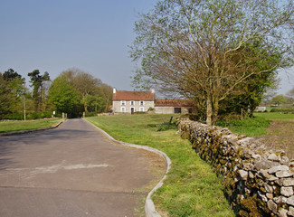 English Rural Manor Farmhouse