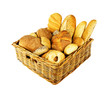 Bakery bread in basket