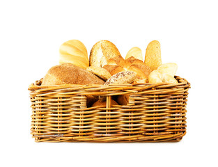 Basket of fresh bread