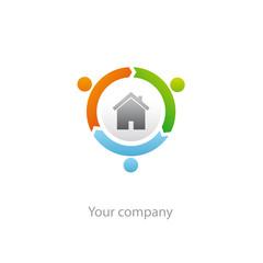 logo entreprise, habitat, énergie