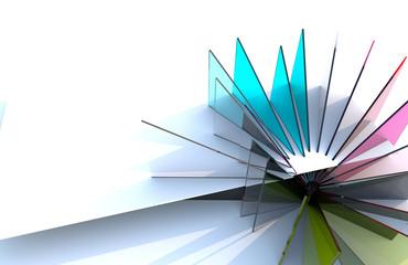 Composizione in vetro colorato