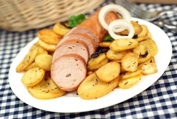 Bratkartoffeln mit Lyoner