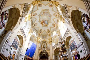interior of pilgrimage church, Wambierzyce, Poland