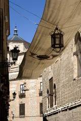 Awning over the Toledo street - Sun protection for procession
