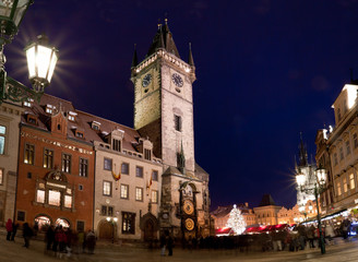Pre-Christmas bustle. Old Town Square in Prague.