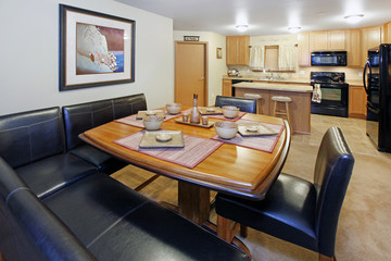 Kitchen and dining room table