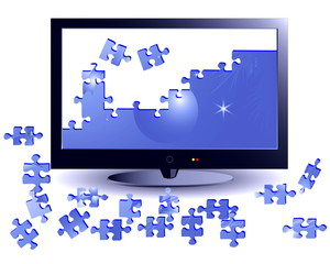 The plasma TV with puzzles