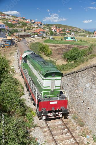 Historyczny pociąg w Albanii