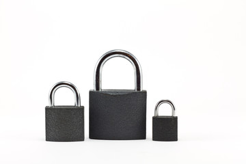 Padlocks isolated on white background