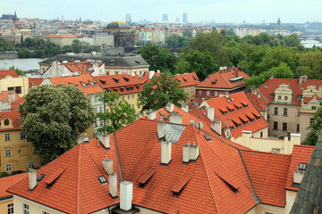 View over the old town, Prague, Czech republic, Europe