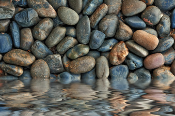 Spa stones and water hot in Asia