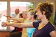Bewegungsübungen im Fitnesscenter