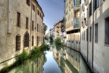 Canal in padova, Italy.