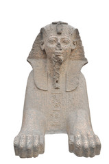 Egyptian Sphinx on white background