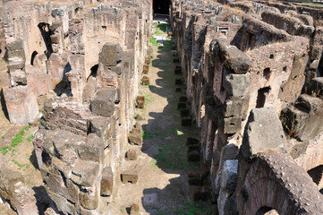 Inside Colosseo, Ground, Rome ,Italy