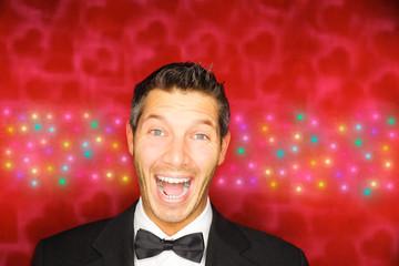 happy successful businessman winner
