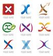 Ensemble d'Icones Lettre X pour Design Logos