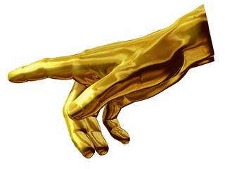 goldene Handhaltung aus Michelangelo Fresko