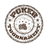 Poker tournament rubber stamp poster