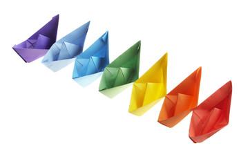 Seven paper ships