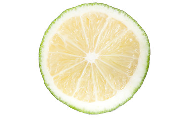 Slice of lime. isolated on white