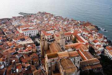 Cefalu from bird's eye view, Sicily