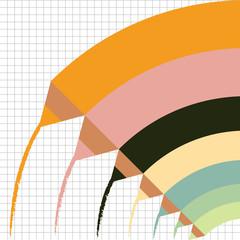Color pencils background. Vector illustration.