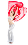 dance woman over white background