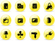 Glossy web buttons, home electronics icons
