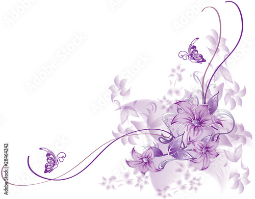 abstract flower Illustration vector spring summer pink