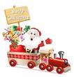 Babbo Natale in Treno-Santa Claus on Train-Vector