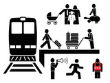 People - pictograms, icons poster