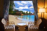 Widok na plażę z hotelowego pokoju - 28473625