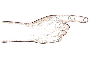 mano che indica