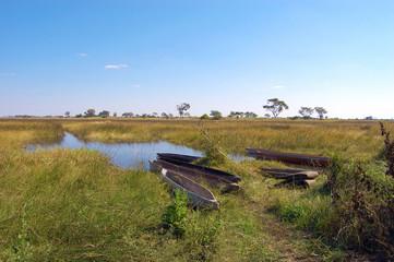 Kanufahrt in Afrika
