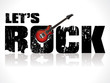 lets rock background with guitar - 28474676