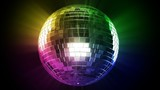 Disco ball and color rays (looped).